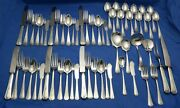 58 Pcs Wallace Sterling Silver Flatware Princess Mary With C Monos Free Ship