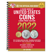 2022 Large Print Red Book Of Us Coins Soft Cover Redbook In Stock And Shipping