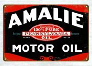 Vintage Reproduction Advertising Signs Amalie Motor Oil Metal Tin Sign