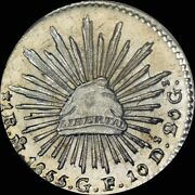 Finest And Only @ Pcgs And Ngc Ms 64 Pl 1855 Mo-gf Mexico Reale Cap And Rays, Eagle 1