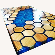 Dining End Coffee Table With Epoxy Table Luxury Furniture Honey Cube Interior