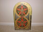 Vintage 1933 Lindstrom's Gold Star Bagatelle Style Pin Ball Game - Man Cave