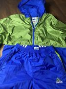Vintage Adidas Wind Suit Top And Bottom Sz Yourh Large