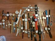 Lot Of 50 Watches Anker Rubina Casio G-shock Philip Morris Fossil..