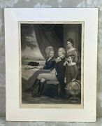 Antique Washington Family Engraving By A B Walter After F Schell Painting No Fra