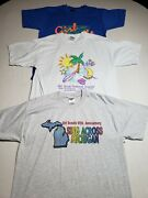 Vintage Girl Scout T-shirts Large Single Stitch Screen Stars Lot Of 3