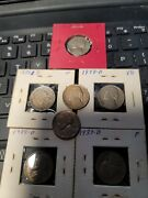 Estate Find -8---1938-- D -jefferson Nickel See Store Military Medals Ww1 Ww2