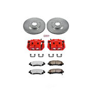 Power Stop For 06-11 Honda Ridgeline Z36 Truck And Tow Kit W/ Calipers - Front -