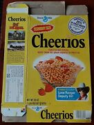 Vintage 1980 The Legend Of The Lone Ranger Deputy Kit Offer Cheerios Cereal Box