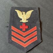 Wwii Us Navy Corpsman Medic Patch Rank Rate