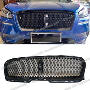 Front Bumper Upper Grille Carbon Fiber Look Vent Grill For Lincoln Mkz 2017-2018