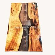 Acacia Wood Epoxy Resin River Din Table Handmade Collectible Furniture Home Déco