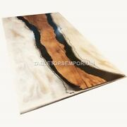 Table Dine Acacia Wooden Resin Dine Table Top Handmade Furniture Outdoor Décor