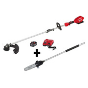 18v Lithium-ion Brushless Cordless String Trimmer Kit 10 Pole Saw Attachment