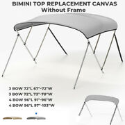 3 Bow 4 Bow Bimini Top Replacement Canvas Fabric W/ Zippers Pocket Without Frame