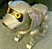 Vtg 90s Toy Quest Tekno Robot Puppy Dog Interactive Works W Batteries Free Ship