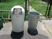 Vintage Lawson Torpedo Trash Can W/ Liner For Shop Store Antiques -pick Up In Ri