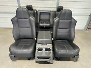 1999-2010 Ford F250 F350 F450 Super Duty Front And Rear Seats Black Leather