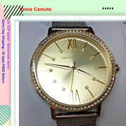 Vince Camuto Vc/5351chtt Womenand039s Crystal Accented Gold Tone Watch