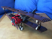 Lego Sculptures Sopwith Camel Set 3451, Complete, No Box, Instructions, Stickers