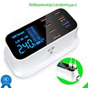 Phone Fast Charger 5v 40w Abs Led Display Usb Type C Adapter For Iphone Tablet