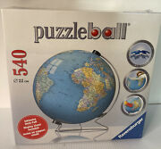 Ravensburger 3d Puzzle The Earth 540 Pieces World Globe With Stand New Sealed