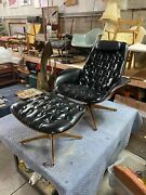 Vintage 1960s Plycraft Mulhauser Chair And Ottoman. All Original