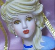 Rare Ghost Sister Inarco Xlg 7 Blonde Head Vase Lady Headvase Relpo Vtg Mod Teen