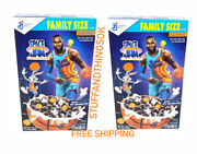 2 X General Mills Space Jam A New Legacy Cereal 17.3 Oz Berry W Marshmallows New