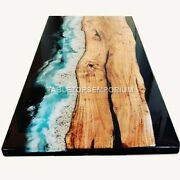 Epoxy Table Top Resin Table Top Dining Table Chestnut Table Acacia Wood Deco