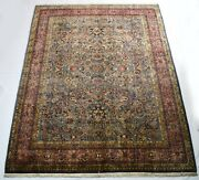 Large Size 8 X 11 Feet Grey Color Oriental Area Rug Hand-knotted Wool Carpet