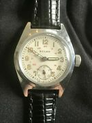 Vintage Solar15 Jewels Swiss Made 24 Dial Serviced Unisex 29mm 40-50s Wristwatch