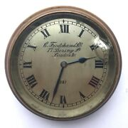 Stunning Charles Frodsham And Co London Brass Cased Car Clock Watch