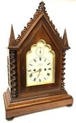 Antique Gothic Double Fusee Bracket Mantel Clock By Frodsham London Pull Repeat