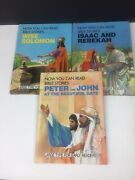Childrens' Bible Stories Now You Can Read Bible Large Print Solomon Peter Vtg