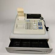 Casio Pcr-262 Electronic Cash Register With Dl-1329a Cash Drawer,coin Compartmnt