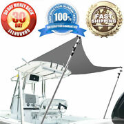 Boat Top Extension W/ Telescopic Aluminum Poles- Tear And Abrasion Resistant
