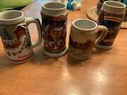 Collectorand039s Series Lot Of 4 Budweiser Beer Steins 1998 2003 And 2 Undated