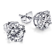 7050 Solitaire Diamond Earrings 1.02 Carat Ctw White Gold Stud Si1 28751172