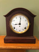 Antique Seth Thomas Porcelain Face Chime Clock W/ 89ad Movement And Key - Working