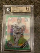 Wander Franco 2019 Bowman Chrome 100 Green Shimmer Refractor /99 Bgs W Two 10s