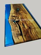 Epoxy Resin Blue River Acacia Style Dinning Coffee Table Tops {thickness 35mm}
