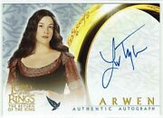 Lord Of The Rings Return Of The King Rotk Autograph Card Liv Tyler As Arwen