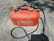 Outboard Marine Corporation Canada 6 Gallon Red Metal Gas Tank Fuel Can 17x10