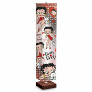 Betty Boop Floor Lamp With Art On 4-sided Fabric Shade By The Bradford Exchange