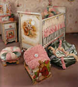 Plentyand039s Horn Hand Painted Baby Furniture Set Crib Changing Table Armoire