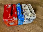 Antique Model T Ford Canisters Running Board Gas Oil Water Cans 3 Pcs 1908-27 Vg