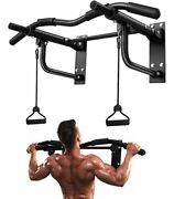 Pull Up Bar Wall Mounted, Heavy Duty Wall Mount Chin Up Bar With Black