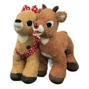 Rudolph The Red Nose Reindeer And Clarice Build A Bear Characters With Costumes