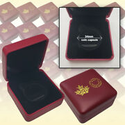 Royal Canadian Mint Purple Clamshell Box With Rcm Logo 38mm Coin 100 Count